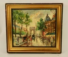 Paris Street Scene Painting