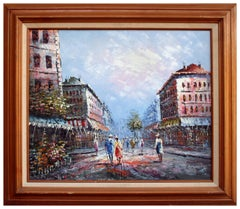 Parisian Street Scene Landscape