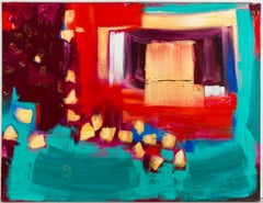 Patricia Lomax (b.1934) - Signed 2002 Oil, Mere Red