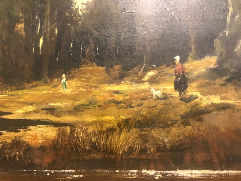 Paysage Par un Ami de Courbet, 19th Century Oil on Board Landscape Painting 4