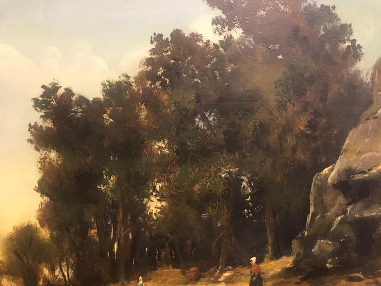 Paysage Par un Ami de Courbet, 19th Century Oil on Board Landscape Painting 6