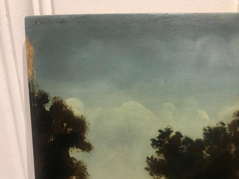 Paysage Par un Ami de Courbet, 19th Century Oil on Board Landscape Painting 7
