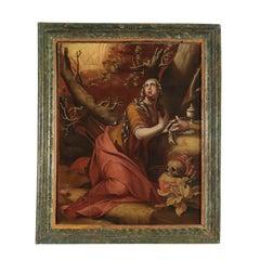 Penitent Magdalene Oil on Canvas Flemish School 17th Century