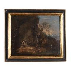 Penitent St. Francis Oil on Canvas Venetian School 18th Century