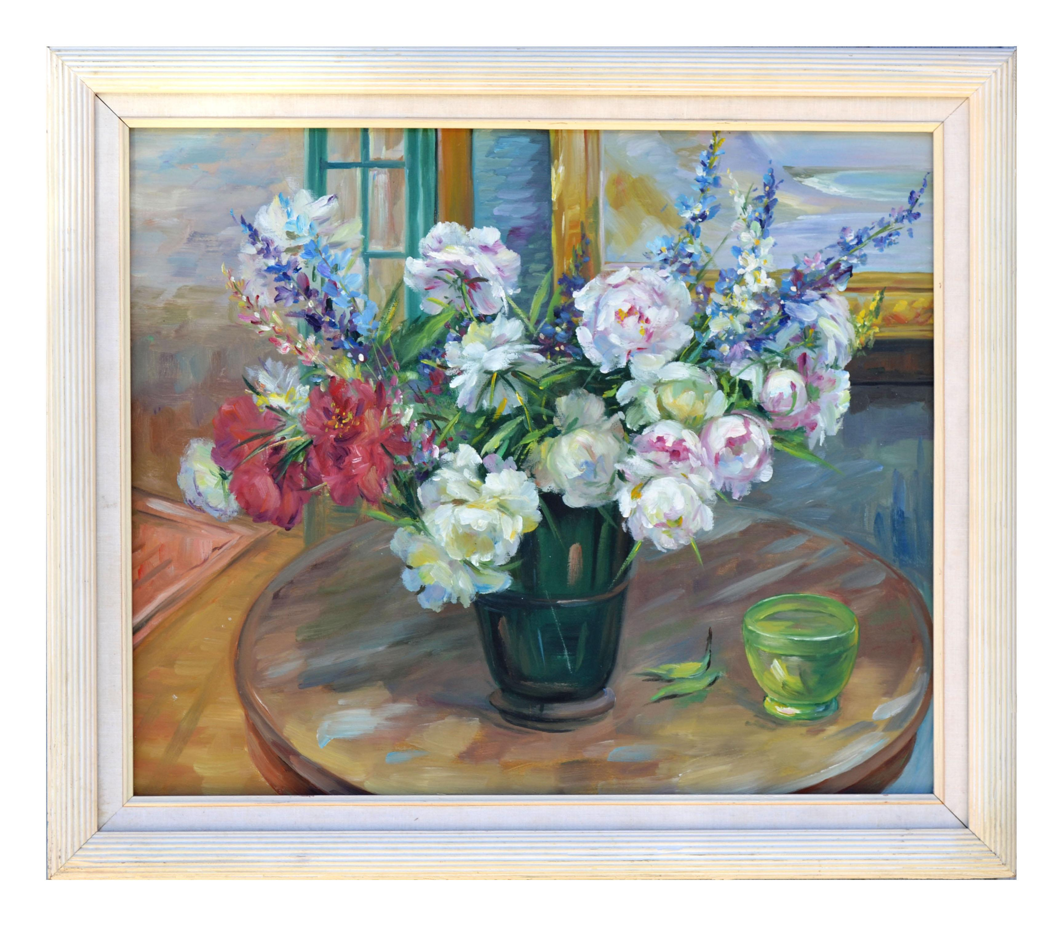 Peony Bouquet Floral Still-Life