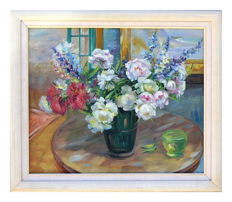 Unknown Interior Painting - Peony Bouquet Floral Still-Life