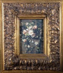 Perez - Ornately Framed 20th Century Oil, Spring Blooms