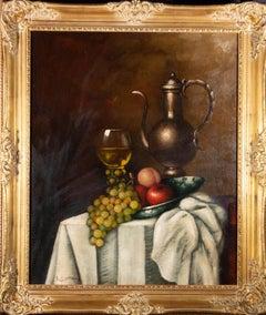 Peter Kloton (1927-1985) - Signed Mid 20th Century Oil, Drapery Still Life