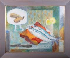 Philippa Hill - 20th Century Oil, Fish Still Life