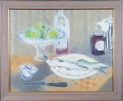 Philippa Hill - 20th Century Oil, Still Life with Fish