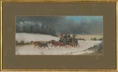 Phillip H. Rideout (c.1860-c.1920) - 1900 Oil, Coaching Scene