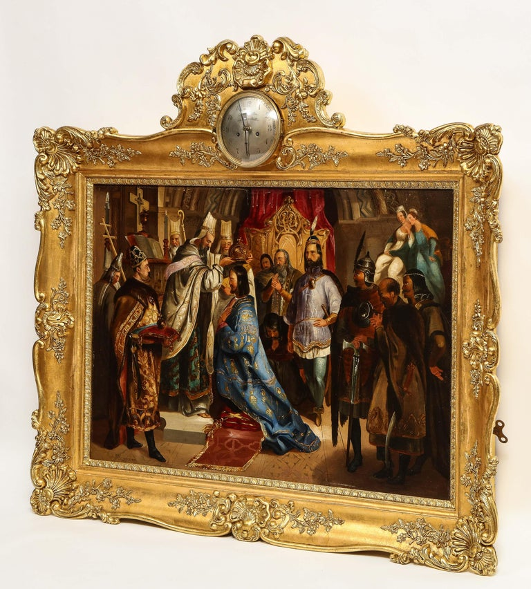 (Polish, 19th Century) Exceptional Quality Oil on Tin Painting
