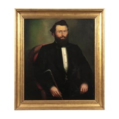 Portait Of A Man Oil On Canvas 1860