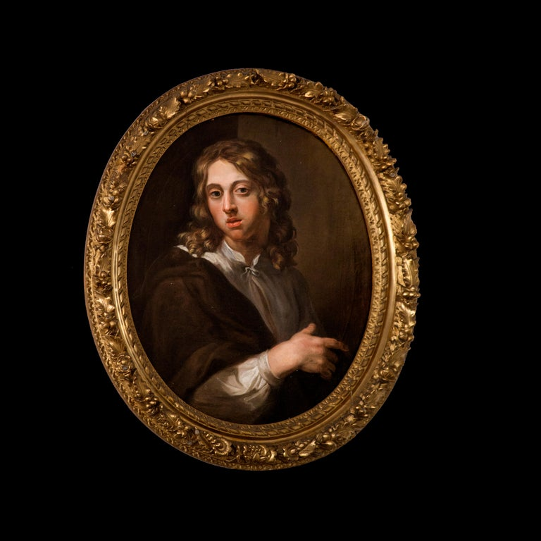Portait of a Young Boy — French Painter - Rococo Painting by Unknown