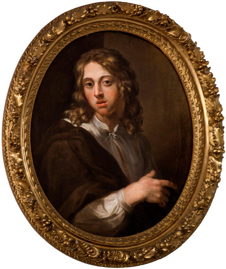 Unknown Portrait Painting - Portait of a Young Boy — French Painter