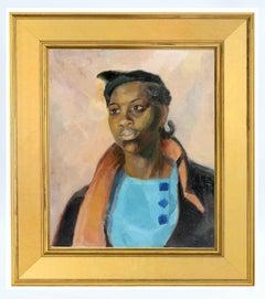 Portrait African American Woman Modernist Framed