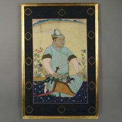 Portrait in Gouache of an Indian Huntsman