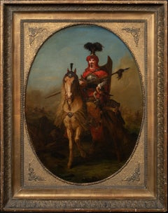Portrait Of A 17th Century Janissary (Elite Soldier) Of The Ottoman Empire