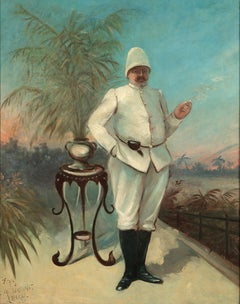 Portrait of a Belgian Colonial Military Officer