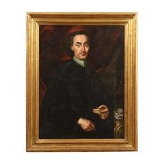 Portrait of a Canon Oil on Canvas Center-Italian School 18th Century