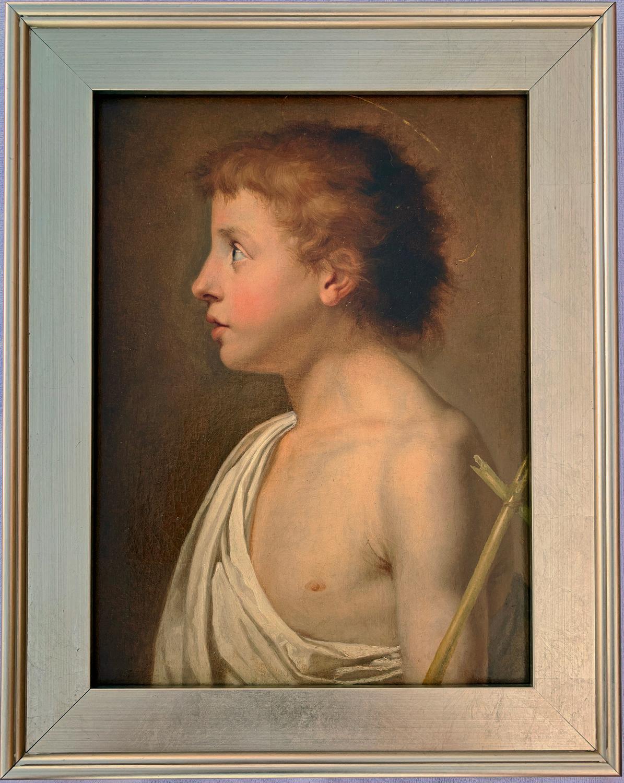 18th Century European Portrait of a Child Saint John the Baptist