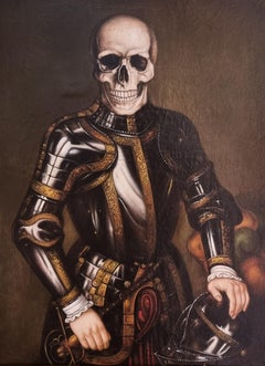Portrait of a Figure in Armour with a Skeleton Head, Central European School