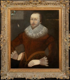 Portrait Of A Gentleman Accompanied By The Yorkshire Rose