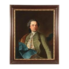 Portrait of a Gentleman, Oil on Canvas, Central-European School, 1700