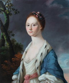 Portrait Of A Lady Wearing An Ermine Overcoat, 18th Century