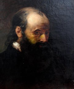'Portrait of a Man', 19th Century French Oil Painting