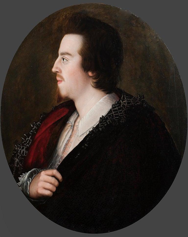 Unknown Portrait Painting - Portrait of a Melancholic Gentleman - Early 17th Century Portrait