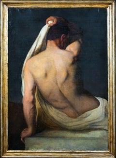 Portrait Of A Nude Male, 18th Century   School of Ubaldo GANDOLFI (1728-1781)