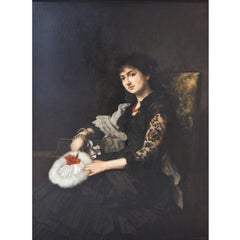 Portrait of a Young Lady, Late 19th Century, Oil Paint on Canvas, Figurative