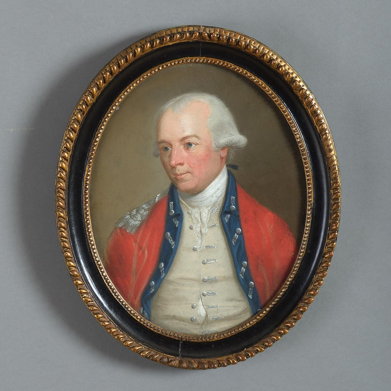 <i>Portrait of Adj-General, Lt-Col. John Cosnan</i>, late 18th century, offered by Timothy Langston Fine Art & Antiques