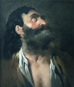 Portrait of an Old Man - Original Oil Painting - 18th Century