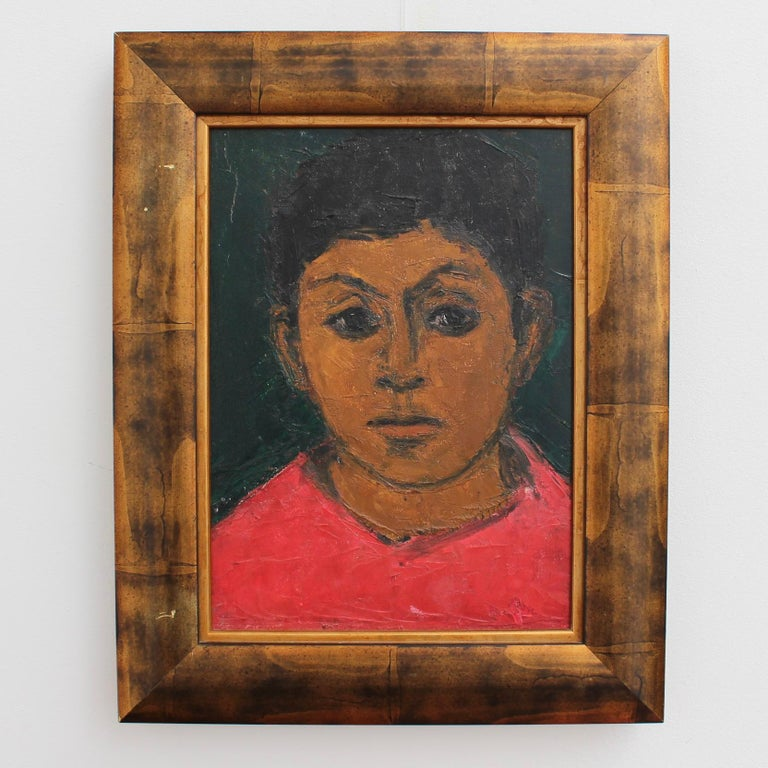 Portrait of Boy in Red - Painting by Unknown