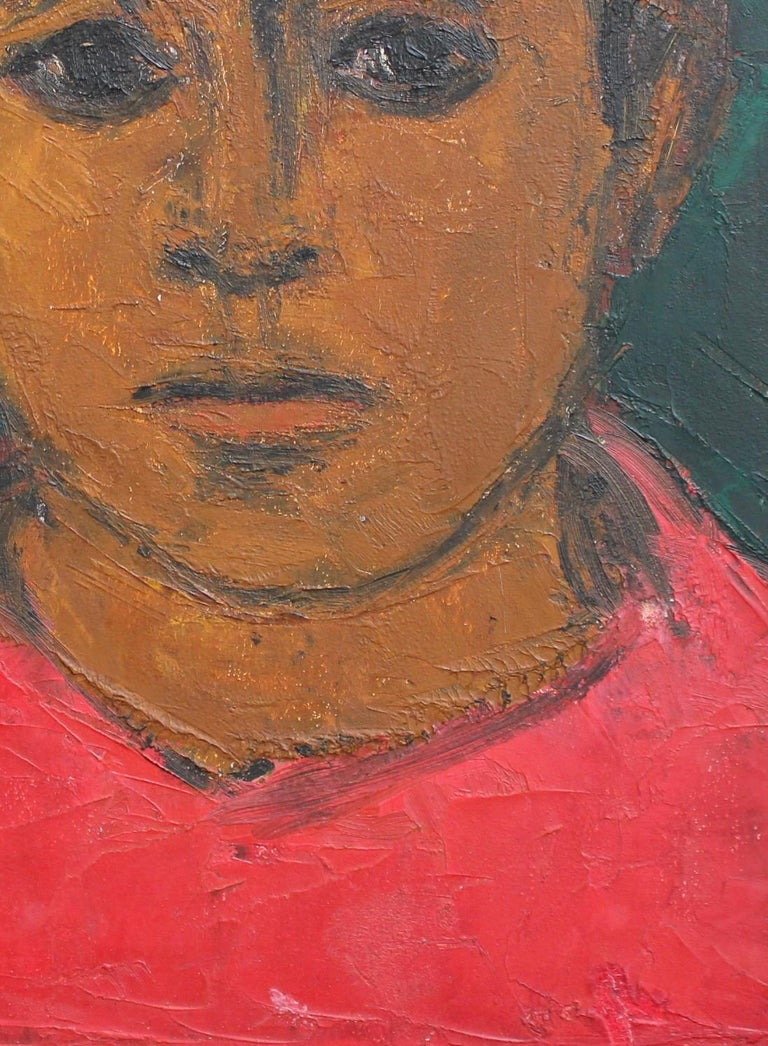 Portrait of Boy in Red For Sale 1