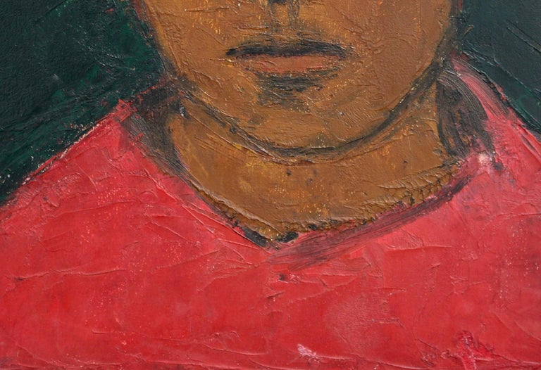 Portrait of Boy in Red For Sale 3