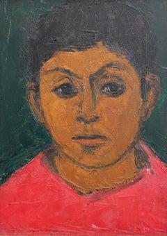 Portrait of Boy in Red