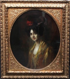 Portrait of Edwardian Broadway Dancer 'Saharet' - European art oil painting