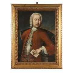 Portrait of Gentleman Oil on Canvas 18th Century
