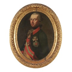 Portrait of Joseph II of Austria Oil on Canvas 18th Century