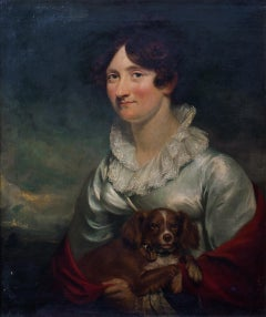 Portrait Of Lady Macdougall With A Spaniel, early 19th Century