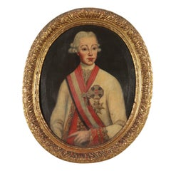 Portrait of Leopold II of Austria Oil on Canvas 18th Century