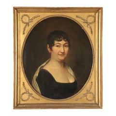 Portrait of Madame Sebatien Bottin, Oil on Canvas, 19th Century