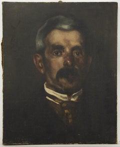 Portrait of Man - Original Oil on Canvas - 19th Century