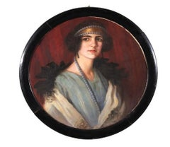 Portrait of Noblewoman - Oil on Canvas by Anonymous Master Early 20th Century