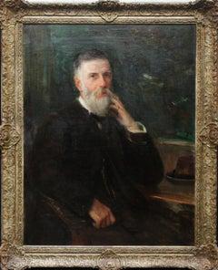 Portrait of William Broom - Scottish Edwardian art male portrait oil painting