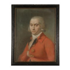 Portrait of Young Man Pastel on Paper Second Half of 1700s, Italian Painting