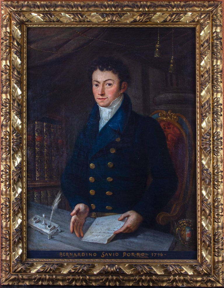 Unknown Figurative Painting - Portrait of Young Nobleman 1796 Oil on Canvas